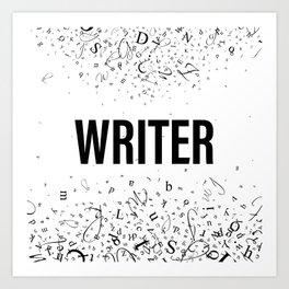 WRITER Art Print