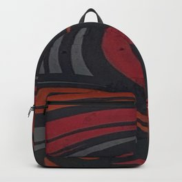 Red and Grey Swirls Backpack