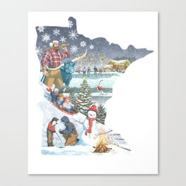 Minnesota Winter Canvas Print