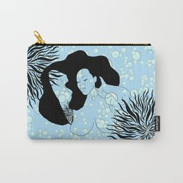 Seaweed Bubble Girl Mermaid Carry-All Pouch