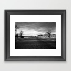 middle of the road Framed Art Print