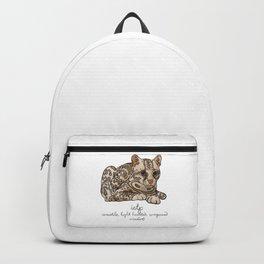 ISTP MBTI Spirit Animal: Ocelot Personality Backpack