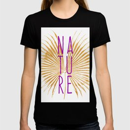 Nature - Botanical Minimalism Typography T-shirt