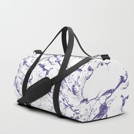 Modern trendy white marble purple ultra violet pattern Duffle Bag