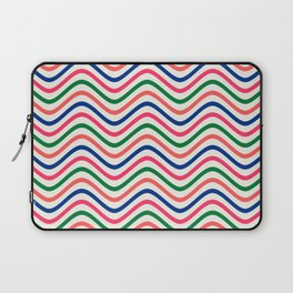 The Wave:  Kelly Green, Coral, Blue, Fuchsia Laptop Sleeve