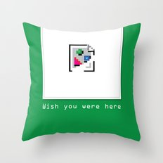 Talk Nerdy to me - Wish you were here Throw Pillow