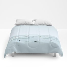 Tiny Surfers in Lima Illustrated Comforters