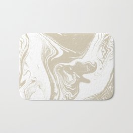 Pokiro - spilled ink abstract minimal swirl ocean watercolor marbled paper marble pattern texture Bath Mat