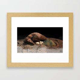 Sleeping Raptor Framed Art Print