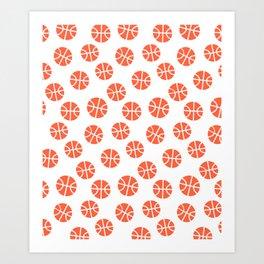 Basketball Pattern Art Print
