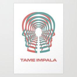 Tame Impala HEAD Art Print