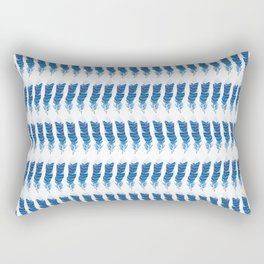 Blue Jay, wing feather, PATTERN Rectangular Pillow
