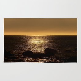 Bronze Sunset Reflection Rug