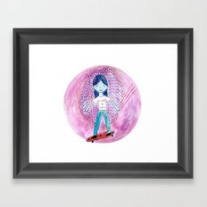 Cats are cool Framed Art Print