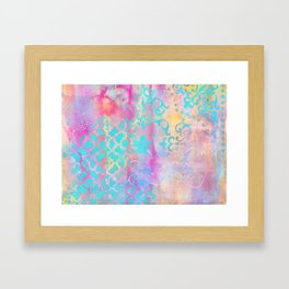 Colorful Abstract Patterns Framed Art Print