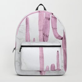 Cactus Trio Marble Purple by Nature Magick Backpack