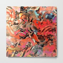 Her Abstract Form - Painting Metal Print