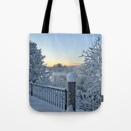 Winter on the Chena River Tote Bag