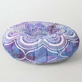 Galaxy Mandala Purple Lavender Blue Floor Pillow