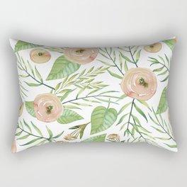 Country Rose Garden Rectangular Pillow