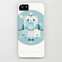 Apollo 11 Lunar Lander Module - Text Sky iPhone Case