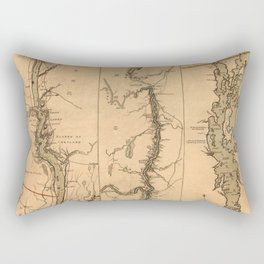 Map Of The Hudson River 1777 Rectangular Pillow