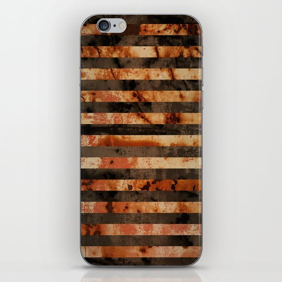 Rusty barrel abstraction iPhone Skin