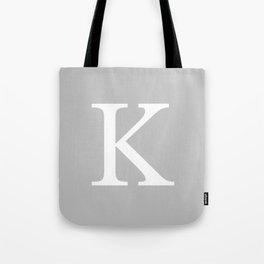 Silver Gray Basic Monogram K Tote Bag