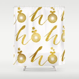 Gold Christmas 07 Shower Curtain