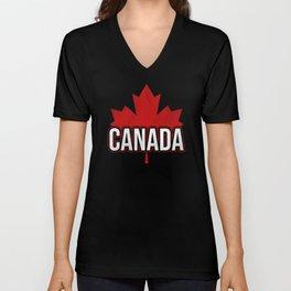 Canada Flag Maple Leaf Unisex V-Neck