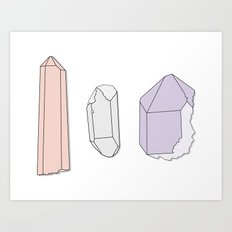Crystals Trio Art Print