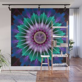Starry kaleidscope flower Wall Mural