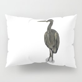 Grey Heron Pillow Sham