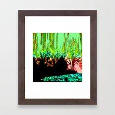 Burning Wood Framed Art Print