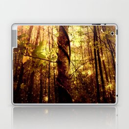 Forest of the Fairies Golden Leaves Laptop & iPad Skin