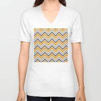 chevron V-neck T-shirts featuring Chevron by eARTh