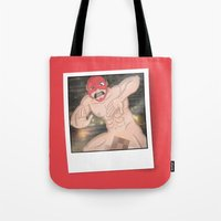 the flash Tote Bags featuring Flash. by KODYMASON