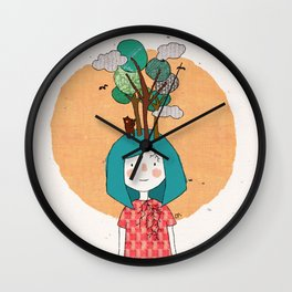 Warm days in Muir Woods Wall Clock