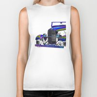 ford Biker Tanks featuring Ford Abstract by Beach Bum Pics