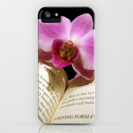 Hidden Words with Orchid iPhone Case