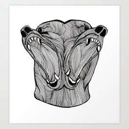 Double Bear Art Print