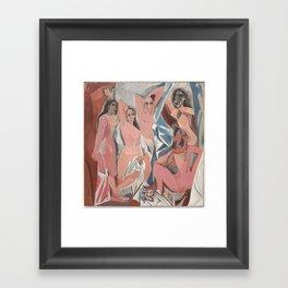 Pablo Picasso - Les Demoiselles d'Avignon Framed Art Print