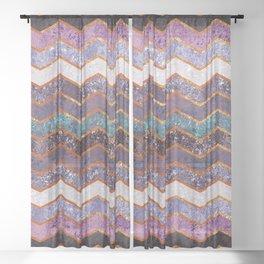 Glitter Waves Sheer Curtain