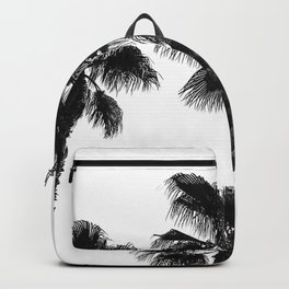 Palm Tree Art Print {3 of 3} | B&W Topical Beach Plant Nature Vacation Sun Vibes Artwork Backpack