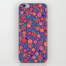Lady Bug Flowers iPhone & iPod Skin