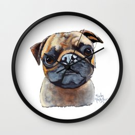 I AM A PUG by Shirley MacArthur Wall Clock