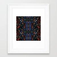 folk Framed Art Prints featuring Folk by Pommy New York