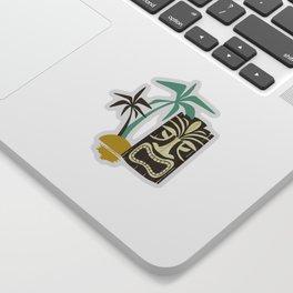 Island Tiki - Black Sticker