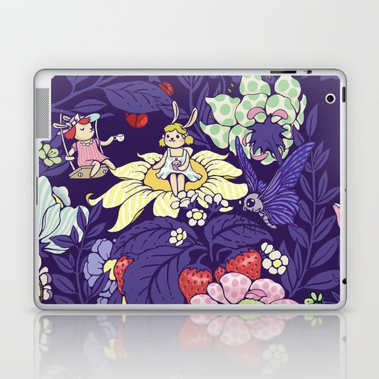 Garden party - blueberry tea version Laptop & iPad Skin