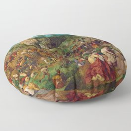 The Procession to Calvary by Pieter Bruegel the Elder (1564) Floor Pillow